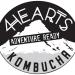 4hearts kombucha logo